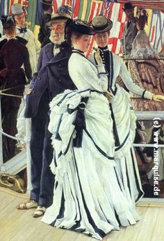 The Ball on Shipboard by Tissot - This is another great example of the skirt I want to create, just a bit more detail. I don't like the colors of this either.