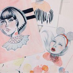 Miss lovinda #painting #ink #girls #portraits
