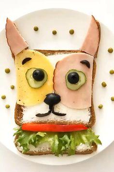 Kids Food Crafts, Food Art For Kids, Edible Crafts, Diy Crafts, Toddler Meals, Kids Meals, Deco Fruit, Boite A Lunch, Creative Food Art