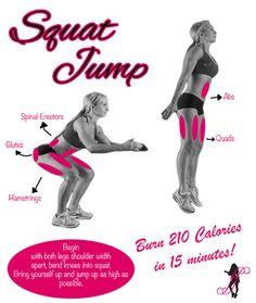 Squat Jump - burn 210 calories in 15 minutes