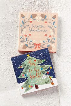 Cute holiday cards #xmas #JoyToTheWorld
