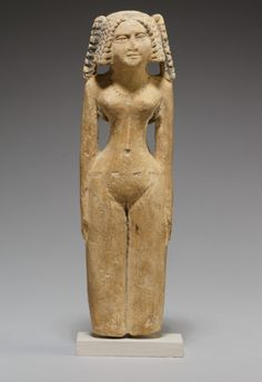 Egyptian Figurine Middle Kingdom – Early New Kingdom Dynasty Medium: Limestone Dimensions: H. cm ¾ in) Ancient Egypt Art, Ancient Goddesses, Historical Artifacts, Goddess Art, Small Sculptures, Egyptian Art, Sculpture Art, Religion, Carthage