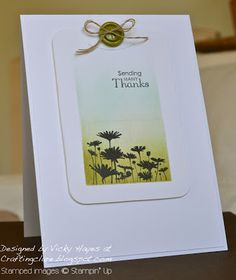 Stampin' Up ideas and supplies from Vicky at Crafting Clare's Paper Moments: Playing tag with the Best of Flowers