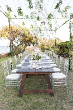 We're off to a large Italian island in the Mediterranean Sea today for a French inspired wedding in Sardinia planned by Laetitia of Les Bulles de Bonheur and captured by Pauline et Mehdi Outdoor Wedding Reception, Outdoor Ceremony, Wedding Vendors, Weddings, French Wedding Style, Wedding Breakfast, Paradise Island, Wild Nature, Turquoise Water