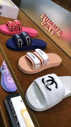 Cc Shoes, Hype Shoes, Me Too Shoes, Jordan Shoes Girls, Girls Shoes, Ladies Shoes, Cute Sandals, Shoes Sandals, Cute Slippers