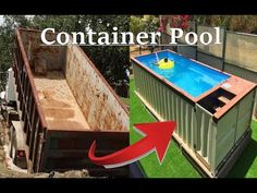 Storage Container Homes, Building A Container Home, Container House Plans, Container House Design, Shipping Container Swimming Pool, Swimming Pools Backyard, Swimming Pool Designs, Hot Tub Backyard, Small Backyard Pools