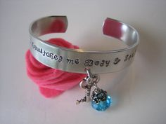 Pride and Prejudice Metal Stamped Fashion Cuff Aluminum Bracelet - You have bewitched me body and soul - Jane Austen