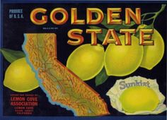 vintage california crate label
