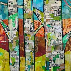 of Art For Kids® birch tree collage ideas Tree Collage, Art Du Collage, Tree Art, Kids Collage, Music Collage, Club D'art, Art Club, Autumn Art, Autumn Trees