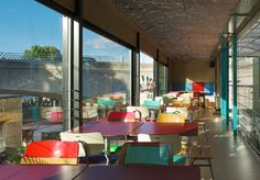 featuring wall art by international street artists, the new pop-up restaurant by softroom architects serves as an experimental kitchen and riverside restaurant for mexican food chain wahaca.