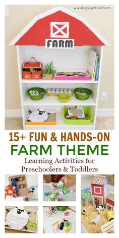 15 Farm Theme Preschool Activities FARM theme learning activities for toddlers and preschoolers. The post 15 Farm Theme Preschool Activities appeared first on Toddlers Ideas. Toddler Learning Activities, Preschool Learning Activities, Preschool Themes, Fun Learning, Indoor Activities, Farm Animals Preschool, Toddler Preschool, Free Preschool, Toddler Themes