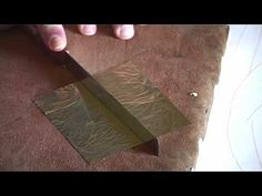 ▶ Gold on the icons with clay - 3 how to apply gold leaf - YouTube
