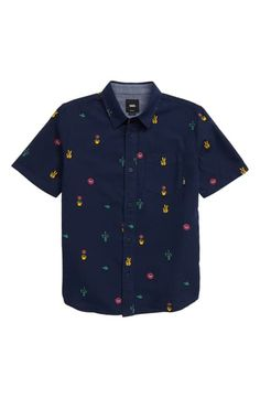 Boy's Vans Houser Woven Shirt, Size XL - Blue Source by nordstrom clothes fashion Cut Shirts, Button Up Shirts, Boys Vans, Vans Style, Vans Shop, Fashion 2020, Big Boys, Boho Dress, Dresses Online