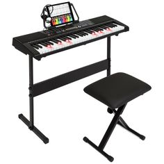 294e8d01e45 Learning the piano has never been easier! This 61-key electronic keyboard  set comes