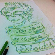 Life is brief for the Rebels Angels    facebook.com/ig.pendeza instagram.com/igor_ink    #draw #newschool #punk #girl #pinup #mohawk #tattoo #misfits #horror #igor_ink #nuskool #desenho #dibujo #tatuagem #tatuaje #tatuaggio