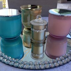 #ribbedglass #new New ribbed glass range and bonbonnerie. #luxury #luxurysoycandles #candles #gold #pink #blue #pearls #bling #reflections #pearlessence #artisan #luxe #handmade #refill #style #luxuryweddings #sydney