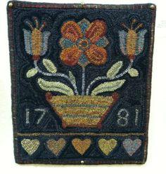 """Berks County Bouquet"" designed by Barbara Carroll, hooked by Janis Den Herder"