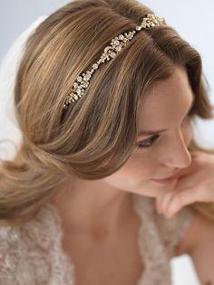 Rhinestone Gold Headband