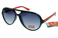 Ray-Ban Cat 4125 Red Black Frame Gray Lens RB81 [RB101] - $25.88 : Top Ray-Ban® And Oakley® Sunglasses Online Sale Store- Save Up To 85% Off