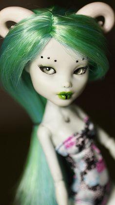 Monster High Frankie Stein ooak doll by i1473, via Flickr