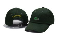 Men's / Women's Lacoste Green Crocodile Logo Embroidery Baseball Adjustable Hat - Green Lacoste Store, Crocodile Logo, Baseball Cap, New Fashion, Embroidery, Hats, Originals, Green, Cap