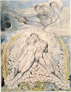 'Satan Watching the Endearments of Adam and Eve' William Blake's Mesmerizing Illustrations for John Milton's Paradise Lost – Brain Pickings William Blake, Milton Paradise Lost, Illustration, Western Art, Museum Of Fine Arts, Painting, Art, William Blake Art, Watercolor Illustration