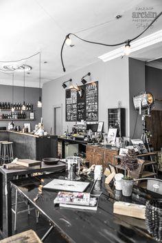 """ Interior Store and Restaurant, Copenhagen - Denmark © Paulina Arcklin Shop Interior Design, Interior Decorating, Industrial Living, Industrial Chic, Industrial Design, Restaurant Kitchen, Cafe Shop, Colorful Chairs, Shops"