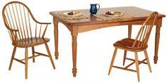 Rectangular Turned Leg Dining Table