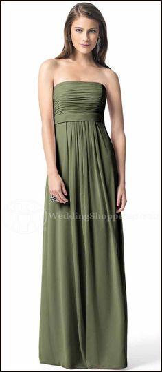 Choosing Bridesmaid Dress Colors:   Green Bridesmaid Dresses...Dessy Bridesmaid Dress 2845 (in Moss)