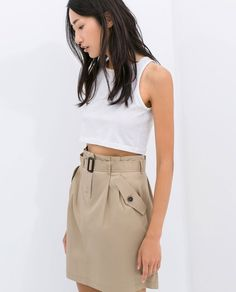 Pin for Later: 11 pièces Zara à ne surtout pas louper !  Zara Poplin Skirt With Belt ($60)