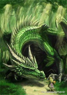 ☆ Green Dragon and a Girl :¦: By ~LusiaNanami ☆