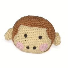 Your best friend will love this silly monkey - a perfect addition to any dog toy collection. This handmade interlaced cotton thread plush toy is designed to be flexible, fun, and very unique. Plus it
