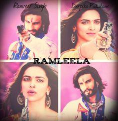 Ranveer Singh as Ram & Deepika Padukone as Leela in the movie RamLeela