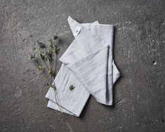 100% Linen Dishtowel Light Grey Set of 2