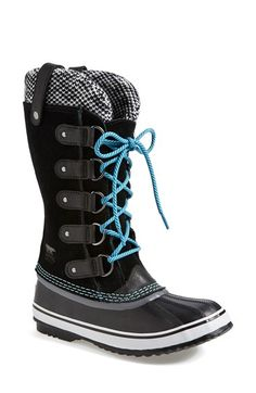 16db0299338c SOREL  Joan of Arctic - Knit  Waterproof Boot (Women) available at - Fossil  color