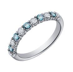 Goldenstar 0.25Ct Blue Diamond Earring 925 Sterling Silver Hoop Earring