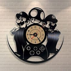 Mario Luigi Art Vinyl Record Clock Wall Decor Home Design Room ...