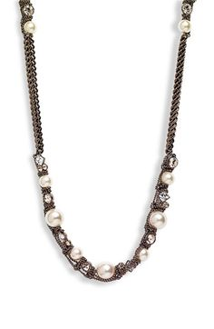 Givenchy 'Vanguard' Faux Pearl & Chain Long Necklace available at #Nordstrom
