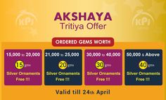 #akshayatritiya   #Offer  @ K.P. Jewellery & Gems Ordered Gems worth for Silver Ornaments Free!!! Valid till 24th April #gemsandjewellery‬   #jewelleryshopsinchennai   #bestastrologersinchennai   Read more log on to www.kpjgems.co