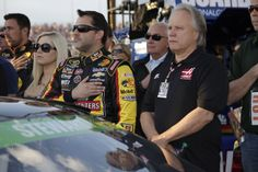 Tony Stewart and Gene Haas participate in pre-race ceremonies for the Richmond 400 at Richmond International Raceway.  View more photos from Richmond here: http://www.stewarthaasracing.com/media/gallery/index.php