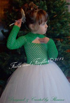 Green and White Christmas Tutu Dress, Red/White Flower Girl Dress, Holiday Photos, Weddings, Formal Occasions, Birthdays 1t, 2t,3t,4t.5t,6 by Frills and Fireflies on Etsy
