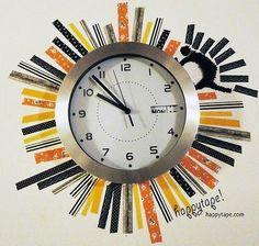 masking tape+horloge!!
