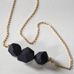 triple rock necklace