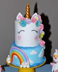 unikorn torte ideen für kindergeburtstag feiern