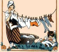 Vintage laundry illustration