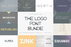 The Logo Font Bundle - 24 fonts #font #modernfont #futurefont #futuristicfont #fontbundle #fontcollection #bundle #collection #typebundle #logo