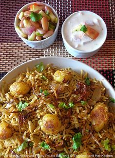 THE CHEF and HER KITCHEN: Baby Potato Biriyani..ideal recipe for Parties!!