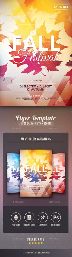 Fall Festival Flyer Template PSD Download here   - fall flyer