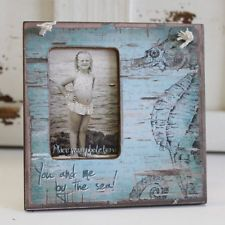 Rustic Nautical Sea Horse Mini-Frame- Primitives by Kathy. Beach Home Decor. NEW