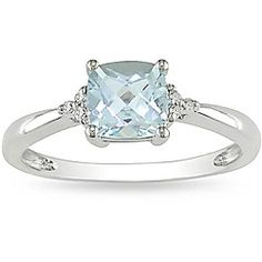@Overstock - Aquamarine and diamond ring10-karat white gold jewelryClick here for Ring Sizing Charthttp://www.overstock.com/Jewelry-Watches/10k-White-Gold-Aquamarine-and-Diamond-Ring/4768175/product.html?CID=214117 $169.04